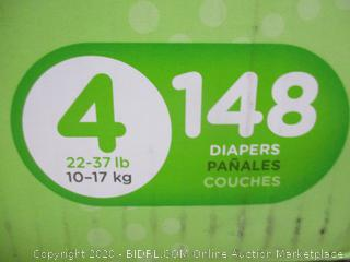 Huggies - Slip-On Diaper Pants, Size 4 (148 Count, One Bag Slightly Open)