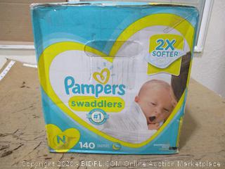 Pampers - Swaddlers, Newborn (140 Count, Sealed Box)