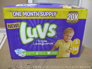 Luvs - Triple Leakguards, Size 5 (148 Count)