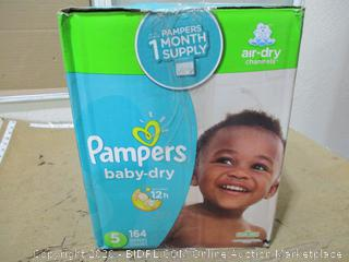 Pampers - Baby-Dry Diapers, Size 5 (164 Count, Sealed Bags)