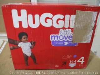 Huggies - Little Movers, Size 4 (144 Count, Sealed Bags)