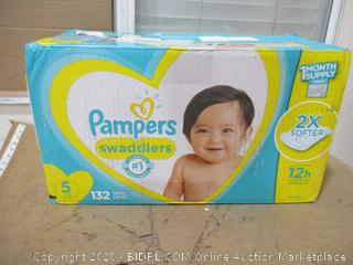 Pampers - Swaddlers, Size 5 (132 Count, Sealed Bags)