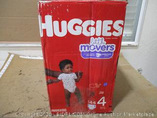Huggies - Little Movers, Size 4 (144 Count, Sealed Box)