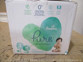 Pampers - Pure Protection Diapers, Size 3 (92 Count, Sealed Bags)