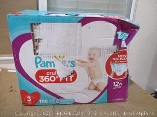 Pampers - Cruisers 360 Fit, Size 3 (156 Count, Sealed Bags)