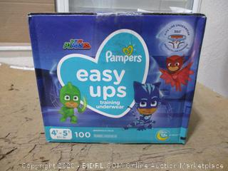 Pampers - Easy Ups Training Underwear, 4T-5T (100 Count, Sealed Bags)