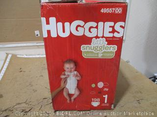 Huggies - Little Snugglers, Size 1 (198 Count, Sealed Box)