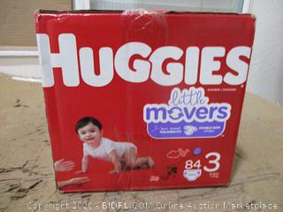 Huggies - Little Movers, Size 3 (84 Count, Sealed Box)