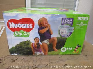 Huggies - Slip-On Diaper Pants, Size 4 (148 Count, Sealed Box)
