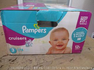 Pampers - Cruisers, Size 3 (174 Count, Sealed Bags)