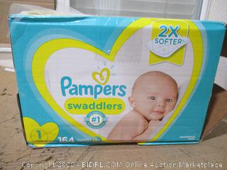 Pampers - Swaddlers, Size 1 (164 Count, Sealed Bags)