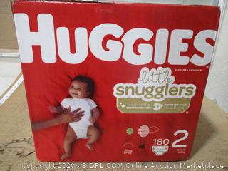 Huggies - Little Snugglers, Size 2 (180 Count, Sealed Box)