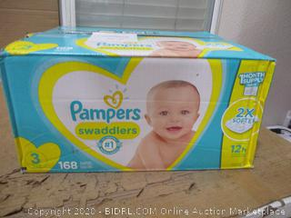Pampers - Swaddlers, Size 3 (168 Count, Sealed Bags)