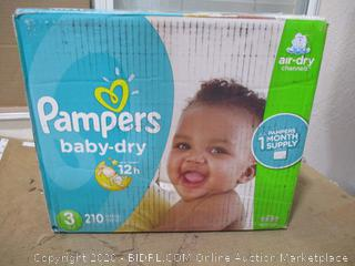 Pampers - Baby-Dry, Size 3 (210 Count, Sealed Bags)
