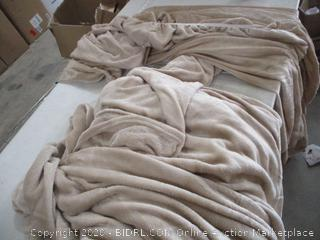 Fleece Fitted Sheet and Blanket, King