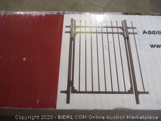 Xcel Fence - Aspen Style 3-Rail Steel Fence Gate, Powder-Coated Black (4'W x 5'H)