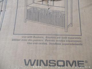 Winsome - Wood Shelving Unit (Damage, See Pictures)