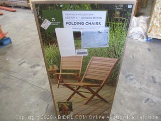 Destination Summer - Folding Chairs, Acacia Wood (Set of 2)