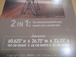 Imax - Convertible Console Table to Bookshelf (Retail $410)