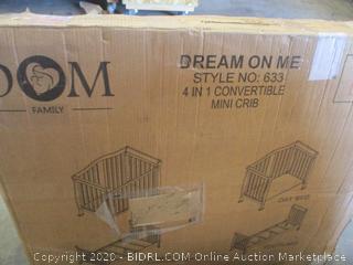 Dream On Me - Addison 4 in 1 Convertible Mini Crib (Black)