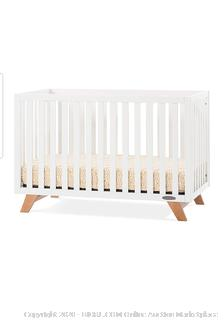 Child Craft - Forever Eclectic SOHO 4-in-1 Convertible Crib, White/ Natural (Retail $250)
