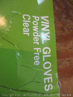 Powder Free Clear Gloves Size Medium