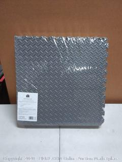 Eva mat 3/4 inch puzzle tile Gray - Exercise Mats - Create your own Gym Floor!