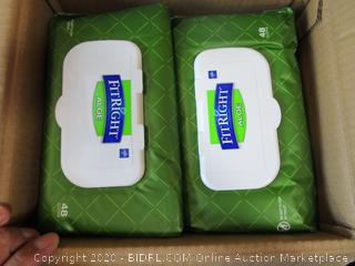 Medline Fitright Quilted Cleansing Cloths