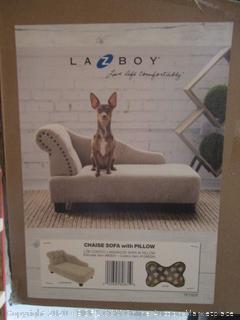 Lazy Boy Dog Bed Chaise Sofa With Pillow