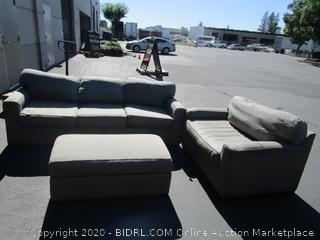 Gray Couch Loveseat Set