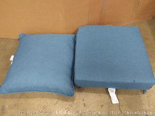 Deep Seat set Blue Cushions