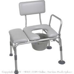 Drive Medical K. D. Padded Combo Transfer Bench & Commode