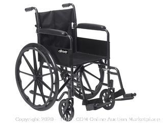 Drive Medical Silver Sport 1 Manual Wheelchair   Drive Wheelchair (online $110)