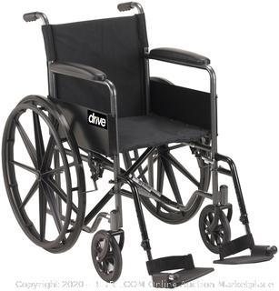 Drive Medical Silver Sport 1 Manual Wheelchair   Drive Wheelchair