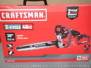 Craftsman 2-cycle 46cc 20 inch chainsaw(slightly used)(untested)