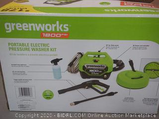 Greenworks 1800 PSI portable electric pressure washer kit