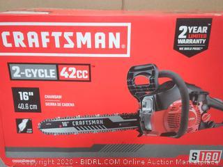 Craftsman 2-cycle 42cc 16 inch chainsaw