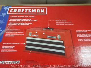 Craftsman 3 drawer wide metal tool box