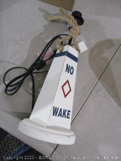 No Wake Table Lamp and Shade