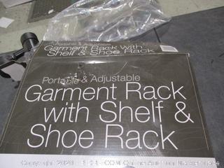 Garment Rack with Shelf & Shoe Rack