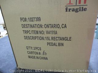 Rectangle Pedal Bin