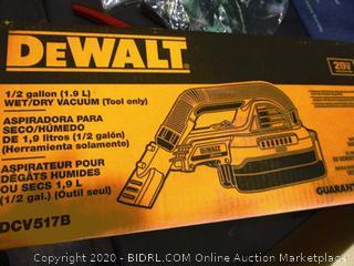 DeWalt 1/2 Gallon Wet/Dry Vacuum (Tool Only)