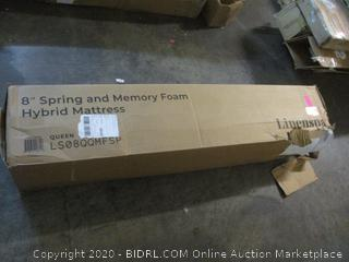 Spring and Memory Foam Hybrid Mattress Size Queen