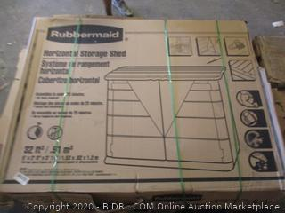 Rubbermaid Horizontal Storage Shed (See Pictures, $500 Retail)