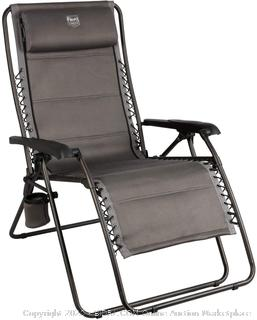 Timber Ridge Balsam Deluxe zero gravity lounger Gray (online $89)