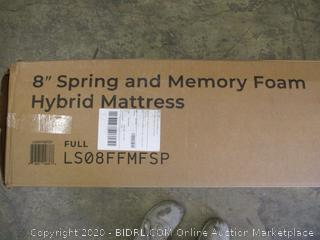 "Linenspa 8"" Spring and Memory Foam Hybrid Mattress"