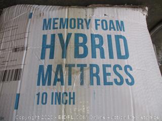 "Lucid 10"" Memory Foam Hybrid Mattress"