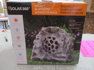 Alpine Corporation Waterproof Bluetooth Rock Speaker - Solar-Powered Outdoor Wireless Speaker for Patio, Pool, Deck, Garden - 50-Foot Range (RETAIL $ 77)