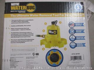 WAYNE WWB WaterBUG Submersible Pump with Multi-Flo Technology (RETAIL $98)
