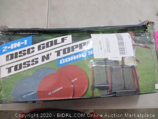 Triumph Two-in-One Disc Golf and Toss N Topple Target Game